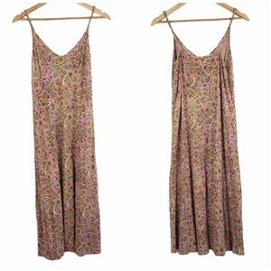 Patrons of Peace paisley slip dress pink large